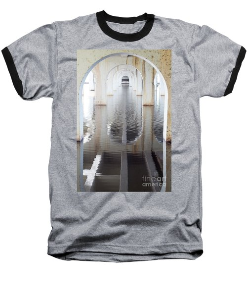 Baseball T-Shirt featuring the photograph Under The Bridge by Linda Lees