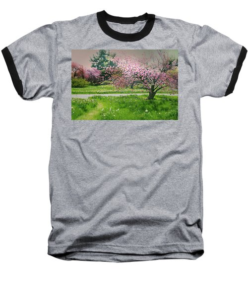 Baseball T-Shirt featuring the photograph Under The Cherry Tree by Diana Angstadt