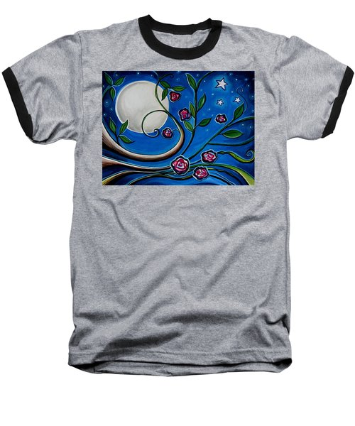 Under The Glowing Moon Baseball T-Shirt
