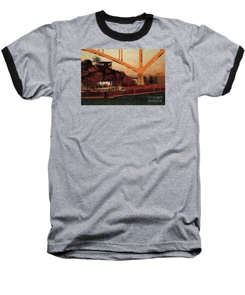 Under The Hoan Baseball T-Shirt by David Blank