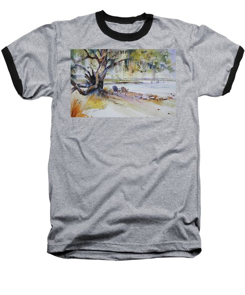 Under The Live Oak Baseball T-Shirt by P Anthony Visco