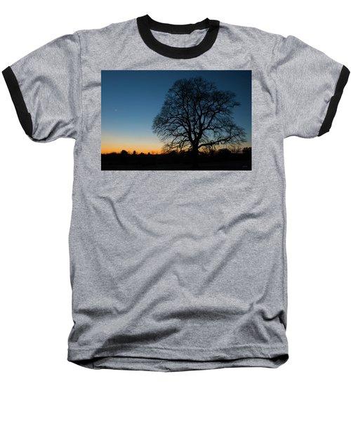 Under The New Moon Baseball T-Shirt by Dana Sohr