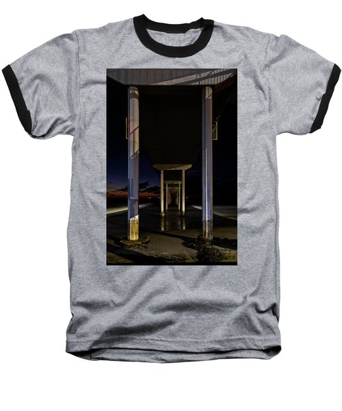 Under The Ocean Beach Pier At Sunste Baseball T-Shirt