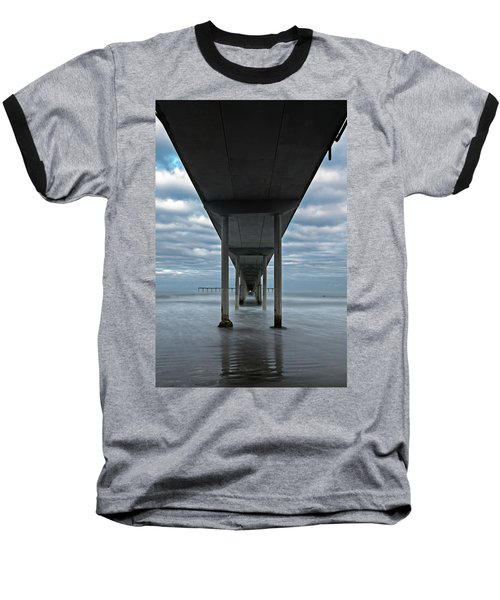 Under The Ocean Beach Pier San Diego Early Morning Baseball T-Shirt