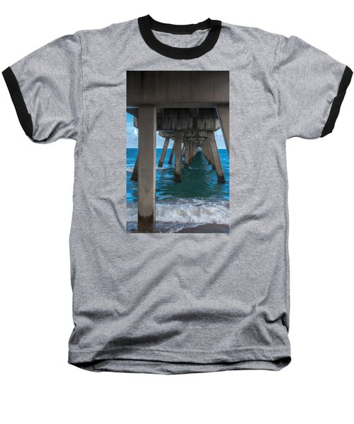 Baseball T-Shirt featuring the photograph Under The Pier by Arlene Carmel