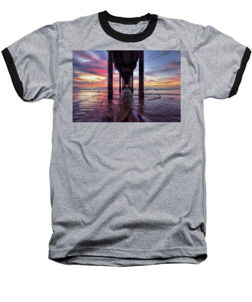 Under The Pier Sunset Baseball T-Shirt