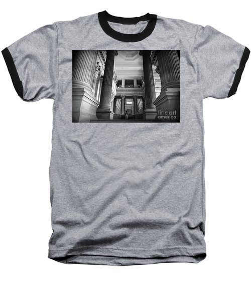 Baseball T-Shirt featuring the photograph Under The Scaffolding Of The Palace Of Justice - Brussels by RicardMN Photography