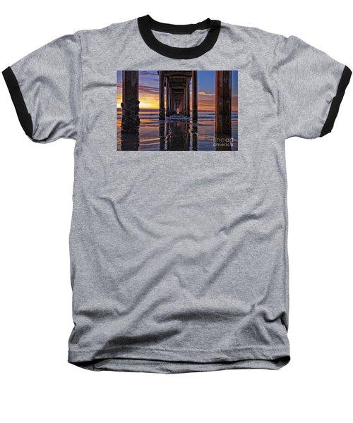 Under The Scripps Pier Baseball T-Shirt