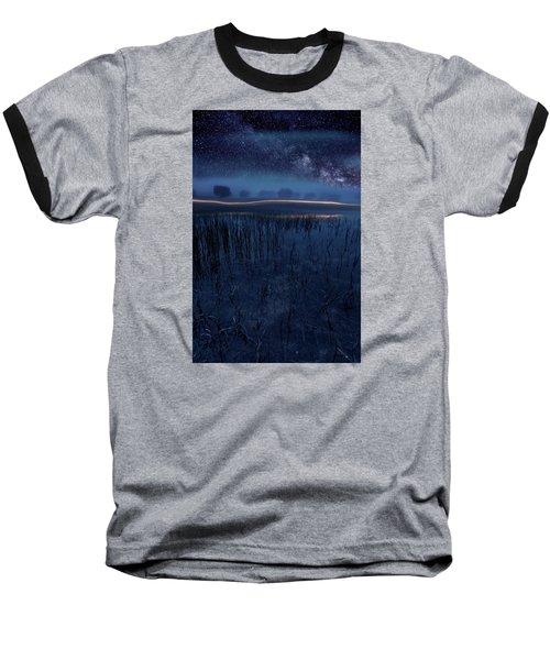Under The Shadows Baseball T-Shirt by Jorge Maia