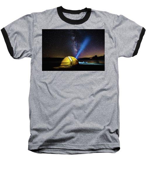 Under The Stars Baseball T-Shirt by Alpha Wanderlust