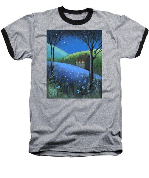 Under The Stars Baseball T-Shirt by Terry Webb Harshman
