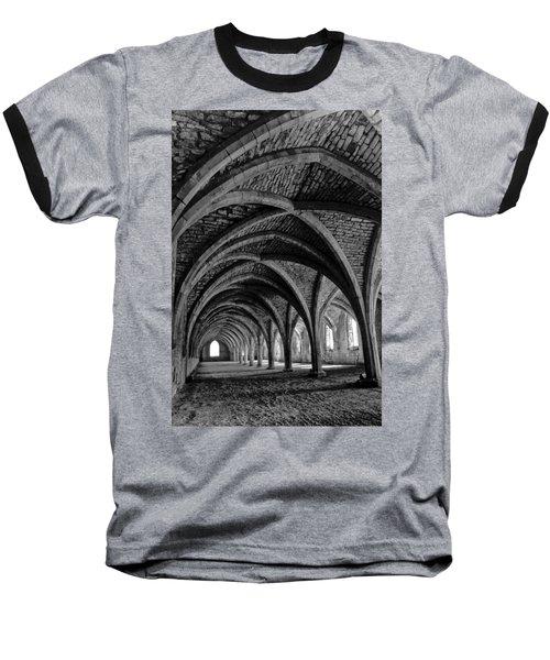 Under The Vaults. Vertical. Baseball T-Shirt