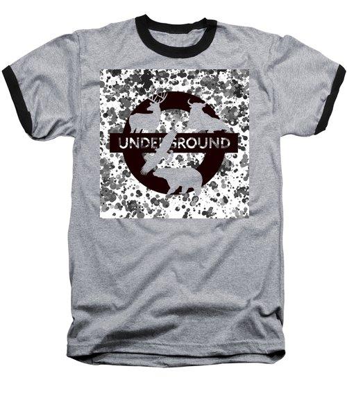 Underground.2 Baseball T-Shirt by Alberto RuiZ