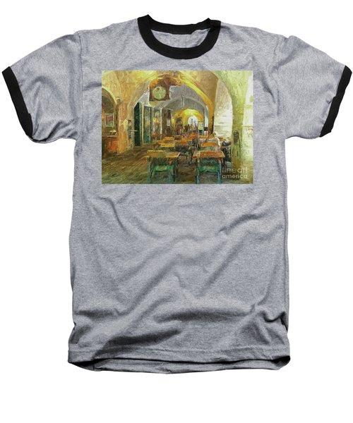 Underneath The Arches - Street Cafe, Prague Baseball T-Shirt