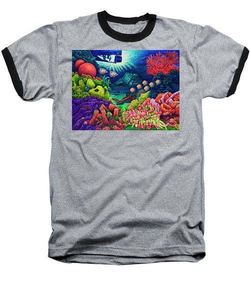 Undersea Creatures Vii Baseball T-Shirt by Michael Frank