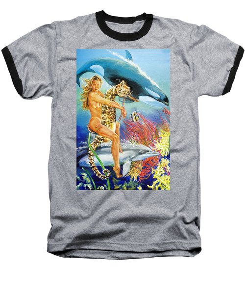 Undersea Fantasy Baseball T-Shirt by Bryan Bustard
