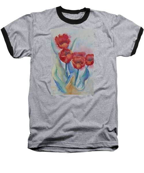 Undersea Tulips Baseball T-Shirt