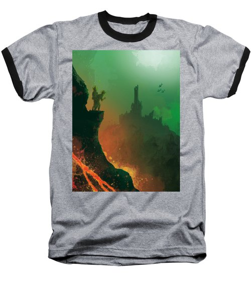 Undersea Volcano Baseball T-Shirt