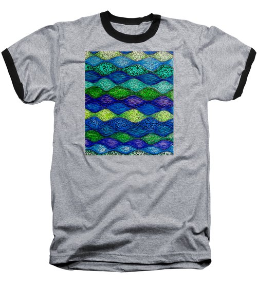 Underwater Abstract 1 Baseball T-Shirt