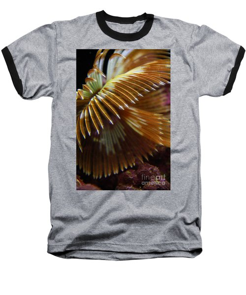 Underwater Feathers Baseball T-Shirt