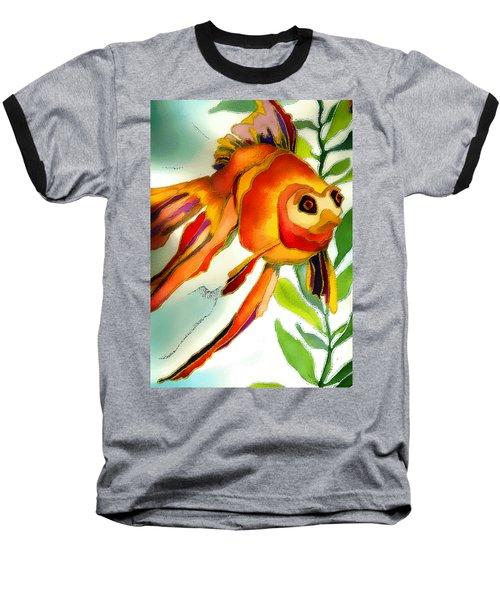 Underwater Fish Baseball T-Shirt by Lyn Chambers