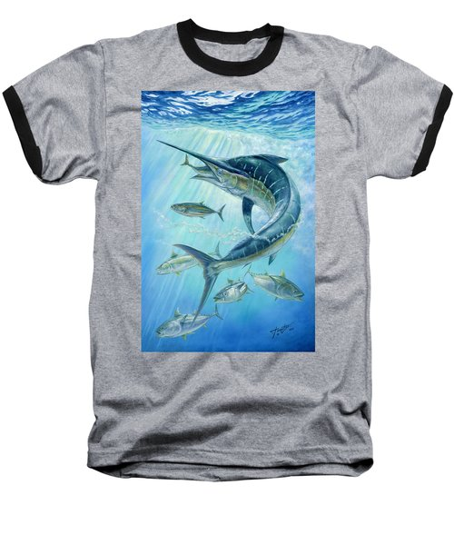 Underwater Hunting Baseball T-Shirt