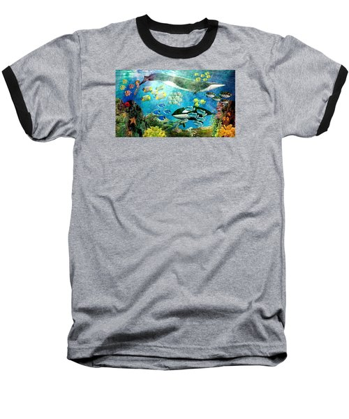 Underwater Magic Baseball T-Shirt