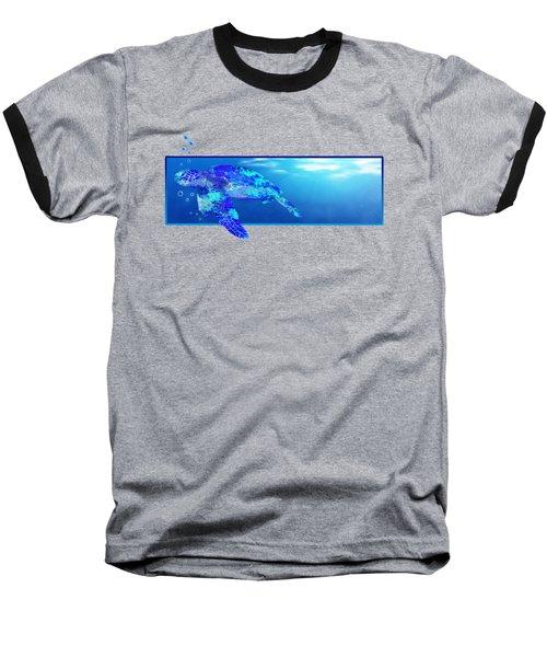 Underwater Sea Turtle Baseball T-Shirt