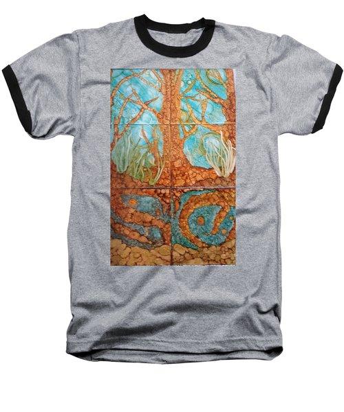 Underwater Trees Baseball T-Shirt