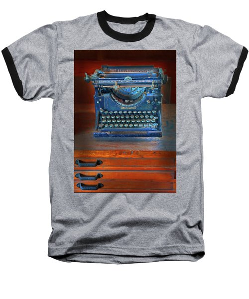 Baseball T-Shirt featuring the photograph Underwood Typewriter by Dave Mills