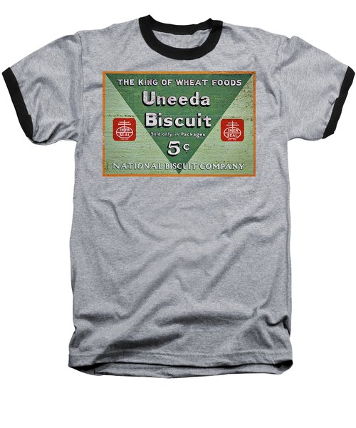 Uneeda Biscuit Vintage Sign Baseball T-Shirt