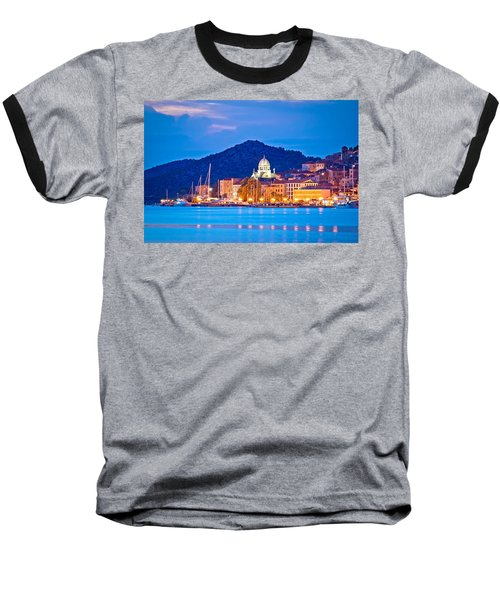 Unesco Town Of Sibenik Blue Hour View Baseball T-Shirt by Brch Photography