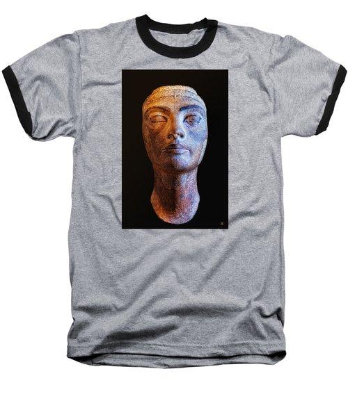 Unfinished Nefertiti Baseball T-Shirt by Nigel Fletcher-Jones