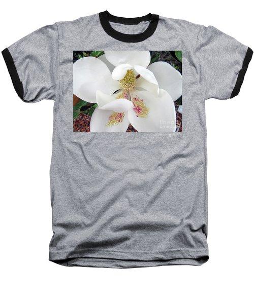 Unfolding Beauty Of Magnolia Baseball T-Shirt
