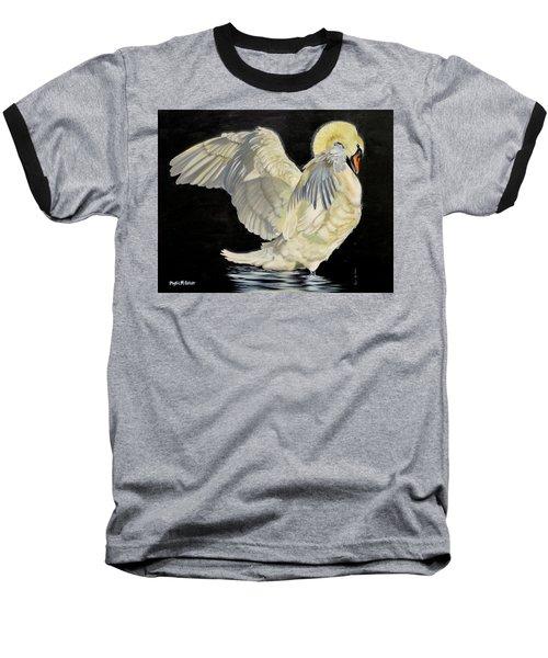 Unfolding Drama Baseball T-Shirt by Phyllis Beiser