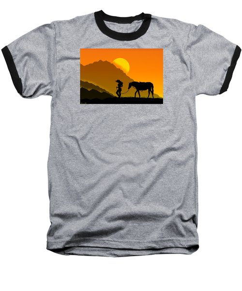 Baseball T-Shirt featuring the digital art Unforgiven by Bernd Hau