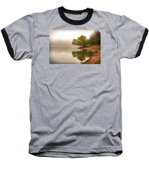 Unger Park Lake At Dawn Baseball T-Shirt by Robert FERD Frank