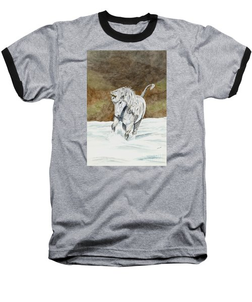 Unicorn Icelandic Baseball T-Shirt by Shari Nees