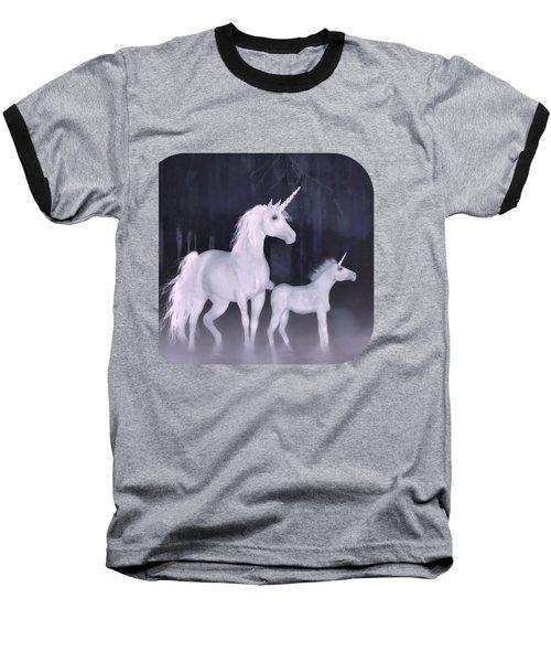 Unicorns In The Mist Baseball T-Shirt