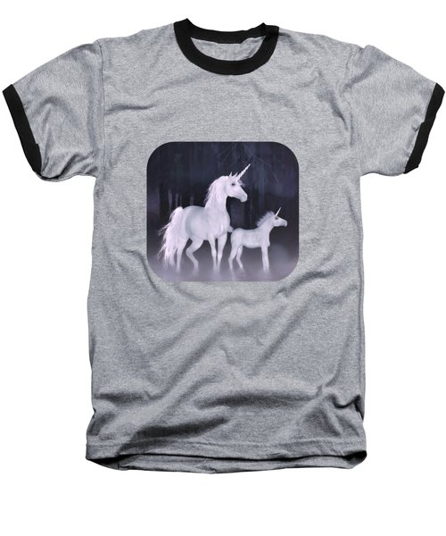 Unicorns In The Mist Baseball T-Shirt