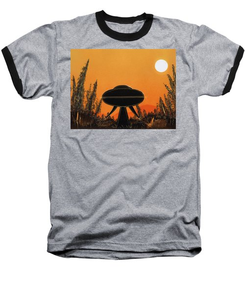 Unidentified Flying Object Landing Baseball T-Shirt