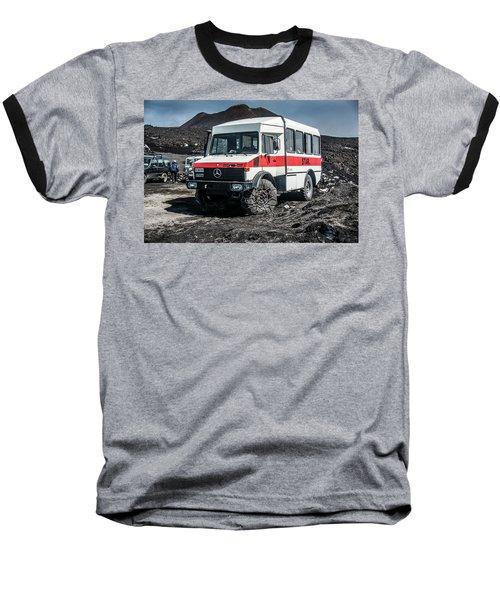 Unimog On Mt. Etna Baseball T-Shirt by Patrick Boening