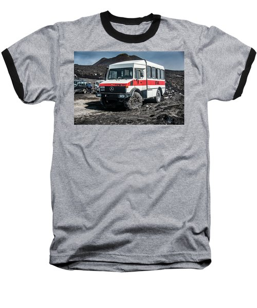 Unimog On Mt. Etna Baseball T-Shirt