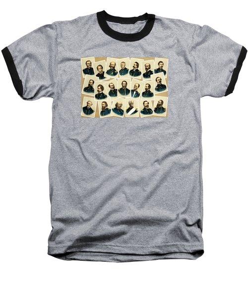 Union Commanders Of The Civil War Baseball T-Shirt