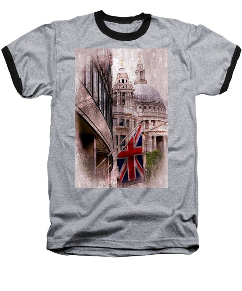 Union Jack By St. Paul's Cathdedral Baseball T-Shirt by Karen McKenzie McAdoo