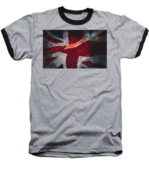 Union Jack Fine Art, Abstract Vision Of Great Britain Flag Baseball T-Shirt