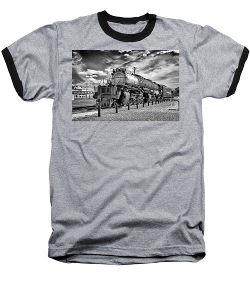 Baseball T-Shirt featuring the photograph Union Pacific 4-8-8-4 Big Boy by Paul W Faust - Impressions of Light