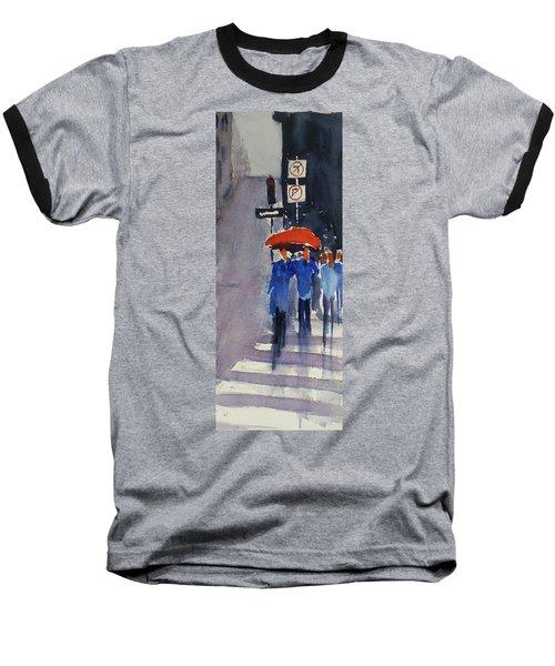 Union Square2 Baseball T-Shirt by Tom Simmons