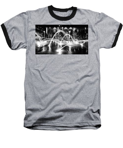 Baseball T-Shirt featuring the photograph Union Station Fountains by Stephen Holst