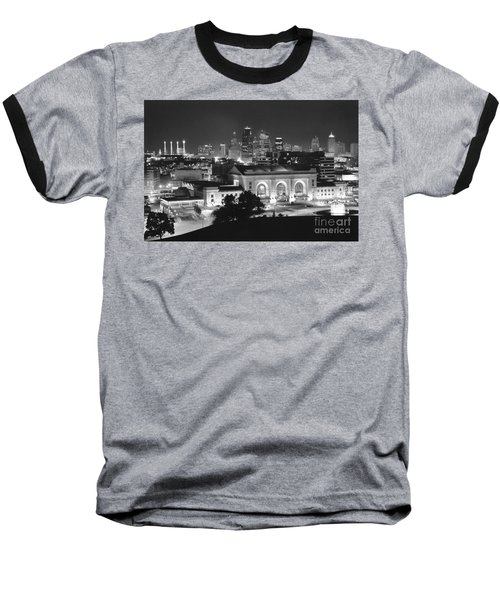 Union Station In Black And White Baseball T-Shirt